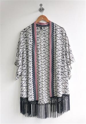 kimono Flecos Blanco