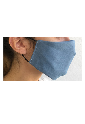 TAPABOCAS azul Packx4