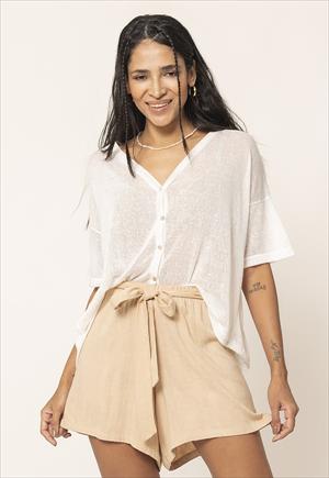 Camisa Almendra Lanilla